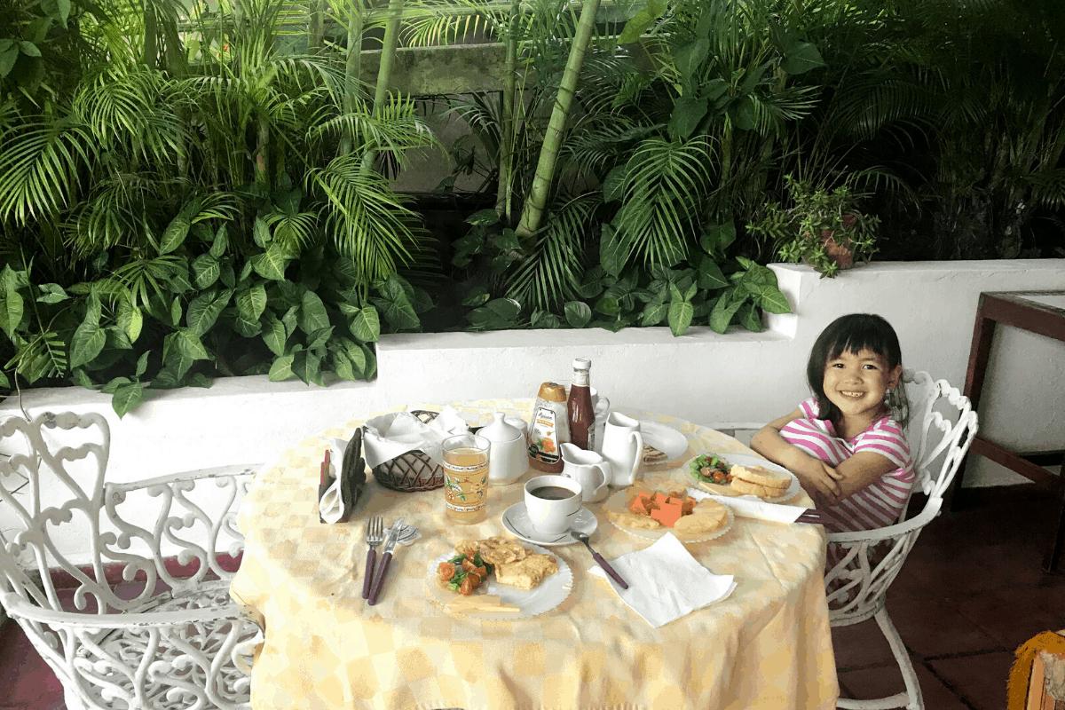 Cuban breakfast at AirBnB