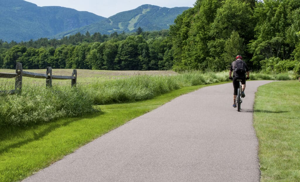 Biking Stowe Recreation Path