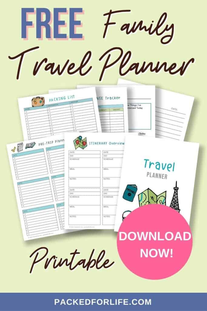 Free Family Travel Printables fanned out