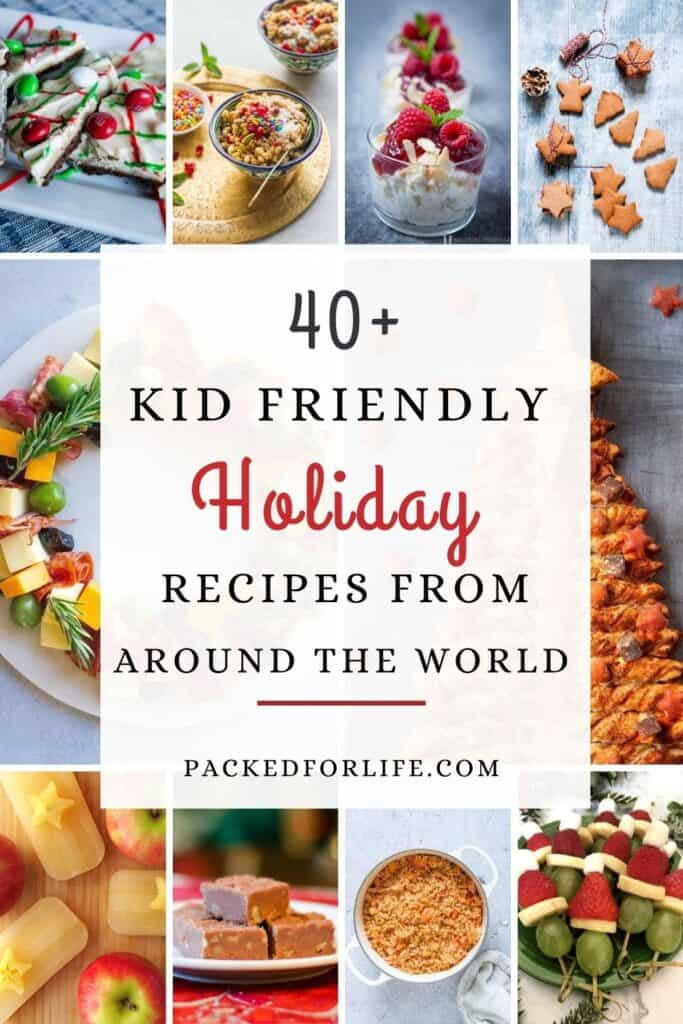 40+  Kid Friendly Holiday Recipes From Around The World. Cookies, edible wreaths, risalamande, burbara wheat berry pudding, jollof rice, more