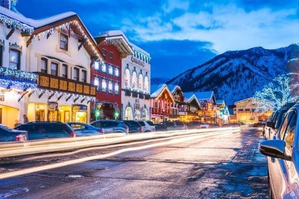 Christmas lights Downtown Leavenworth, Washington