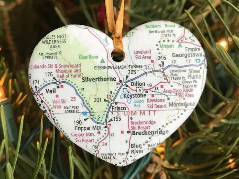 Ceramic Map Ornament