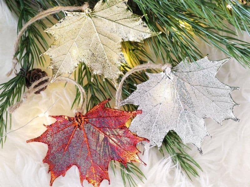 Canadian Maple Leaf Ornaments