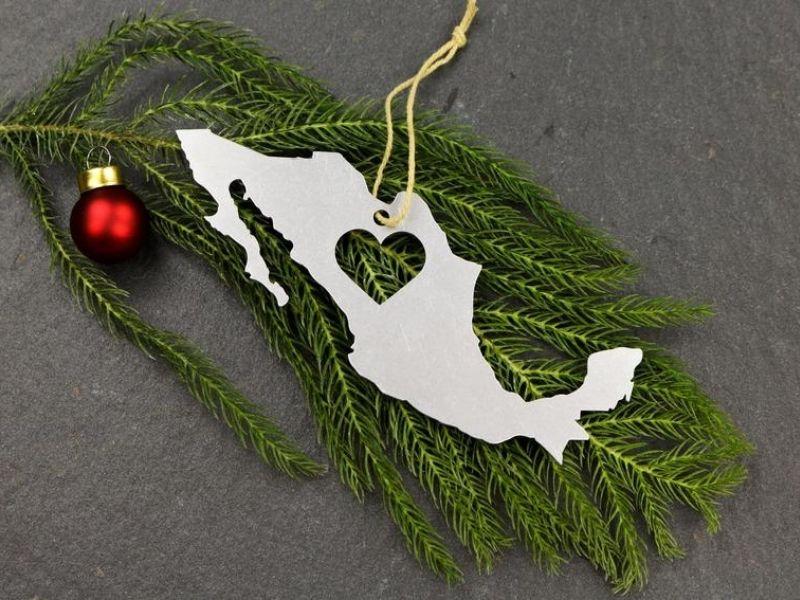 Metal Ornament shaped like Mexico