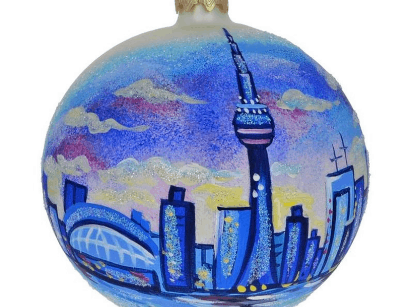 painted Toronto Ornament