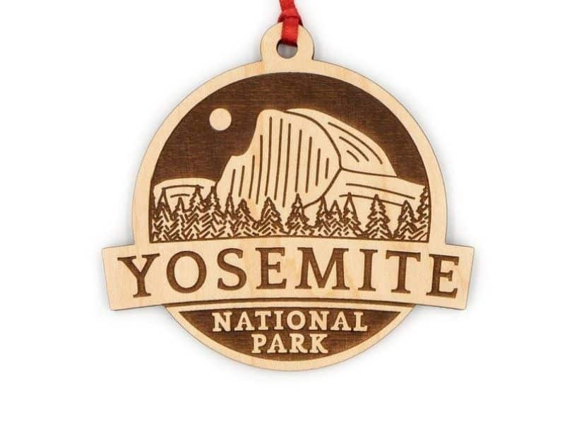 Yosemite National Park Ornament made of laser cut wood